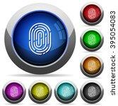 set of round glossy fingerprint ...