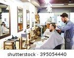 cutting hair | Shutterstock . vector #395054440