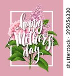 Happy Mothers Day Lettering...