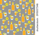 seamless pattern of tequila... | Shutterstock .eps vector #395057548