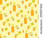 seamless pattern of tequila... | Shutterstock .eps vector #395057560