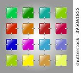 a set of colored buttons on a...