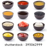 different sauces bowls with... | Shutterstock . vector #395062999
