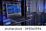 rackmount led console in server ... | Shutterstock . vector #395065996