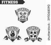 logo for fitness and gym.... | Shutterstock .eps vector #395068090