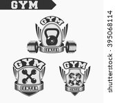 logo for fitness and gym.... | Shutterstock .eps vector #395068114