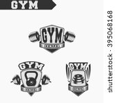 logo for fitness and gym.... | Shutterstock .eps vector #395068168