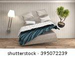 zero gravity bed hovering in... | Shutterstock . vector #395072239