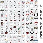 Set Of 90 Cute Doodle Avatars...