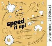 speed elements in the style of... | Shutterstock .eps vector #395086168