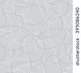 stitched curves grey seamless...   Shutterstock .eps vector #395086240