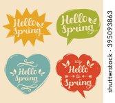 vector illustration typography... | Shutterstock .eps vector #395093863