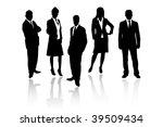 business people   Shutterstock .eps vector #39509434