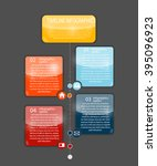 infographic templates for... | Shutterstock .eps vector #395096923