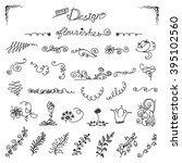 hand drawn design elements ... | Shutterstock .eps vector #395102560