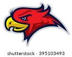 eagle head mascot  colored... | Shutterstock .eps vector #395103493