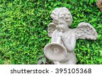 Vintage Angle Boy Statues In A...