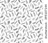 seamless pattern of black and... | Shutterstock .eps vector #395107144