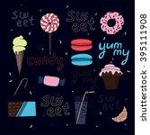 bright sweet vector composition.... | Shutterstock .eps vector #395111908