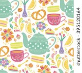 "vector seamless pattern ""tea... 