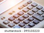 calculator or a calculator to... | Shutterstock . vector #395133223