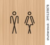 toilet door wall plate.... | Shutterstock .eps vector #395135878