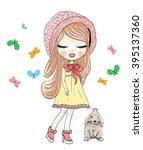 girl   Shutterstock .eps vector #395137360