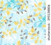flower floral seamless  pattern  | Shutterstock .eps vector #395138806