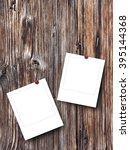 close up of two blank square... | Shutterstock . vector #395144368