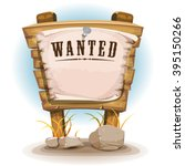 cartoon wood sign with wanted...