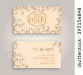 vector business card design... | Shutterstock .eps vector #395156848
