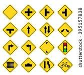 set of yellow transportation... | Shutterstock .eps vector #395157838