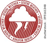 severe weather alert icon stamp | Shutterstock .eps vector #395161348