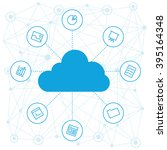 cloud service for project and... | Shutterstock .eps vector #395164348