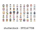 50 flat line colorful icons... | Shutterstock .eps vector #395167708