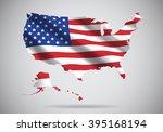 usa map | Shutterstock .eps vector #395168194