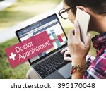 doctor appointment diagnosis... | Shutterstock . vector #395170048