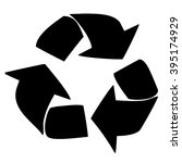 symbol of waste recycling to... | Shutterstock . vector #395174929