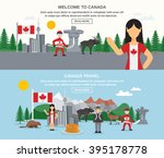 welcome to canada banners with... | Shutterstock .eps vector #395178778