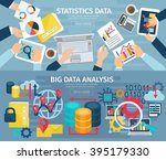 big data analysis and database... | Shutterstock .eps vector #395179330
