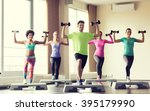fitness  sport  aerobics and... | Shutterstock . vector #395179990
