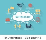 partnership   chart with... | Shutterstock .eps vector #395180446