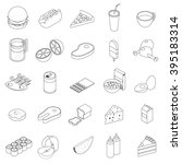 Food Icons Set Outline....