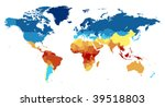 detailed world map with...   Shutterstock .eps vector #39518803
