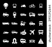 transport icon set | Shutterstock .eps vector #395192644