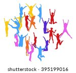 team achievement together we... | Shutterstock .eps vector #395199016