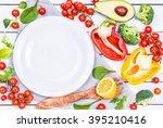 vegetables ingredients for...   Shutterstock . vector #395210416