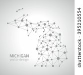 michigan outline grey vector map | Shutterstock .eps vector #395210554