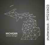 michigan contour vector map | Shutterstock .eps vector #395210623