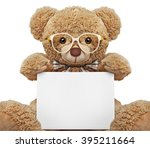 Teddy Bear With Glasses Holdin...